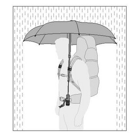 EuroSchirm teleScope handsfree Regenschirm schwarz